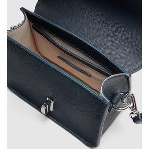 Zara Bags - Zara navy blue crossbody bag with strap details